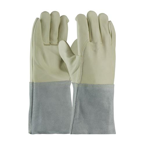 PIP 75-2026 Top Grain Cowhide Leather Mig Tig Welder's  Glove with Kevlar Stitching - Leather Gauntlet Cuff - Box/12 Pairs