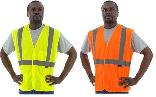 Majestic 75-3203 Hi Vis Yellow or 75-3204 Hi Vis Orange Class 2 Mesh Velcro Safety Vest