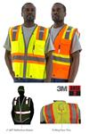 Majestic 75-3225 & 75-3226 Hi Vis Class 2 Premium Surveyor Safety Vests