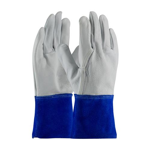 PIP 75-4854 Top Grain Goatskin Leather Mig Tig Welder's  Glove with Kevlar Stitching - Leather Slip-On Cuff - Box/12 Pairs