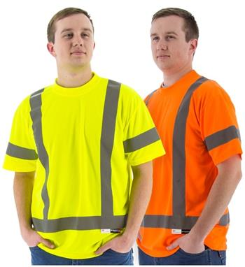 Majestic Hi Vis Class 3 Premium Birdseye Mesh Short Sleeve T-Shirt, 75-5303 Yellow or 75-5304 Orange