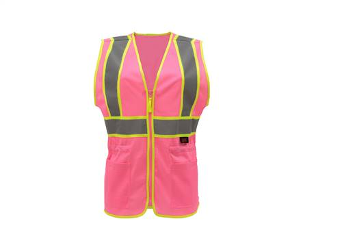 GSS Safety 7806 Pink Two Tone Lady Vest