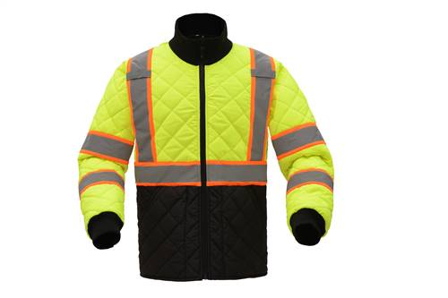 GSS Safety 8007 Class 3 Two Tone Quilted Jacket-Lime