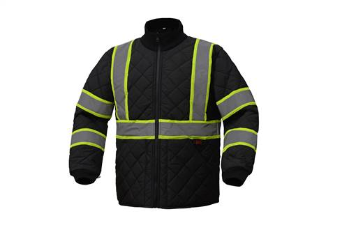 GSS Safety 8009 Class 3 Two Tone Quilted Jacket-Black