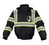 GSS Safety 8011 Enhanced Visibility Waterproof Quilt-Lined Bomber Jacket - Black