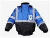 GSS Safety 8013 Enhanced Visibility Waterproof Quilt-Lined Bomber Jacket - Blue with Black Bottom