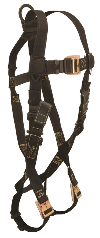 FallTech 8076R Arc Flash Full Body Harness, Nomex / Kevlar, Back D-Ring, Quick Connect Legs & Chest, Rescue Loops, 425 lb Rated