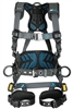 FallTech 8127B FT-One 3D Construction Belted Full Body Harness, Tongue Buckle Leg Adjustments