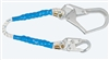 FallTech 81533   3' Rope Restraint Lanyard, Fixed-Length 3' Rope Lanyard with Rebar Hooks - Restraint Only