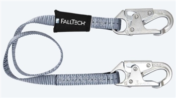 FallTech 8204  4' Web Restraint Lanyard, Fixed-Length 4' Lanyard with Snap Hooks - Restraint Only