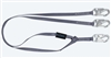 FallTech 8206Y   6' Web Restraint Y Lanyard, Fixed-Length Dual Leg Lanyard with Snap Hooks - Restraint Only