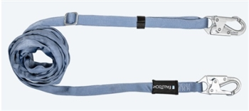 FallTech 820920   11' - 20' Adjustable Web Restraint Lanyard with Snap Hooks - Restraint Only