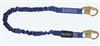 FallTech 8240   4 1/2' - 6'  ElasTech Energy Absorbing Stretch Lanyard, with Snap Hook