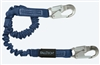 FallTech 8240A   4 1/2' - 6'  ElasTech Energy Absorbing Stretch Lanyard, with Aluminum Snap Hook