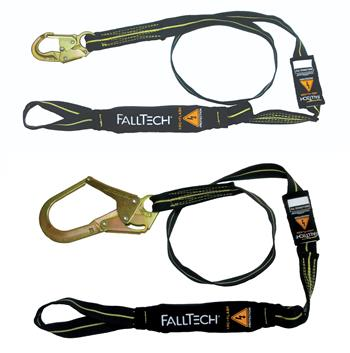 FallTech Arc Flash Energy Absorbing Lanyard, 6' Single-Leg with Choke-Loop, 8242L Snap Hook or 82423L Rebar Hook