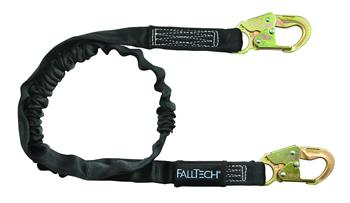 FallTech 8246 Heavyweight Single Leg 6' Lanyard, 2 Snap Hooks, 425 lbs Capacity, Low Profile Internal Energy Absorber