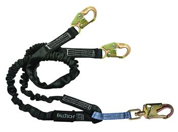 FallTech 8246Y Heavyweight Y-Leg 6' Lanyard, Snap Hooks, 425 lbs Capacity, Low Profile Internal Energy Absorber