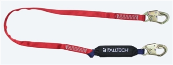 FallTech 8247B   6' Ironman 12' free fall Energy Absorbing Lanyard, with Steel Snap Hook