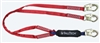 FallTech 8247BY   6' Ironman 12' free fall Energy Absorbing Dual Leg Lanyard, Double-leg with Steel Snap Hooks