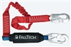 FallTech 8247EA   6' Ironman 12' free fall Energy Absorbing Stretch Lanyard, with Snap Hooks - 4 1/2' - 6' Stretch