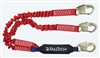 FallTech 8247EY   6' Ironman 12' free fall Energy Absorbing Dual Leg Stretch Lanyard, Double-leg with Snap Hooks - 100% Tie Off - 4 1/2' - 6' Stretch