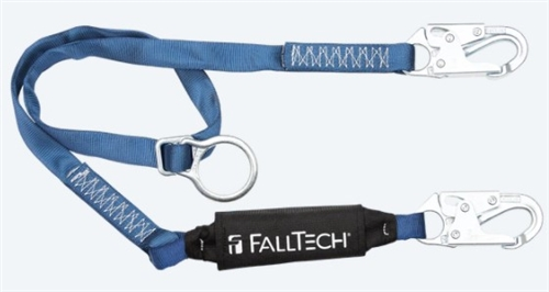 FallTech 82562   6' ViewPack Tie-Back Energy Absorbing, Single Leg Lanyard with Snap Hooks