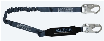 FallTech 8256EL   4 1/2' - 6' ViewPack® Energy Absorbing Stretch Lanyard, with Steel Snap Hooks
