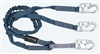 FallTech 8259Y   6' Internal / Low Profile Y Lanyard Lanyard, Dual Leg with Snap Hooks