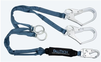 FallTech 8260732D   6' ViewPack Tie-Back Energy Absorbing, Dual leg Lanyard with Rebar Hooks
