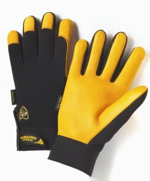 West Chester 86400, Pro-Series Hi-Dexterity Heavy-Duty Grain Deerskin Leather Gloves w/ Spandex Back, Synthetic Leather Fourchettes & Velcro Wrist, Qty: Box/3 Pairs