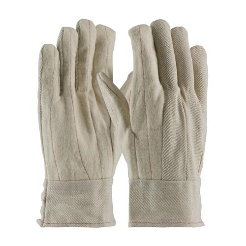 Cotton Canvas Double Palm Glove with Nap-out Finish - Band Top