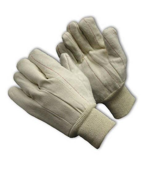 PIP 92-918O  Cotton Canvas Double Palm Glove with Nap-out Finish - Knitwrist  - Box/12 Pairs