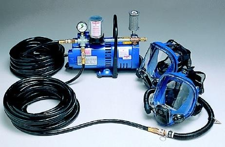 Allegro 9210-02  Full Mask Low Pressure SAR System with 100' Breathing Hose Two Worker