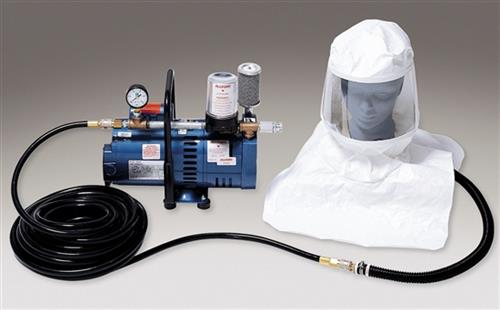 Allegro 9220-01 Tyvek Supplied Air Hood Low Pressure System with 50' Breathing Air Hose, One Worker System