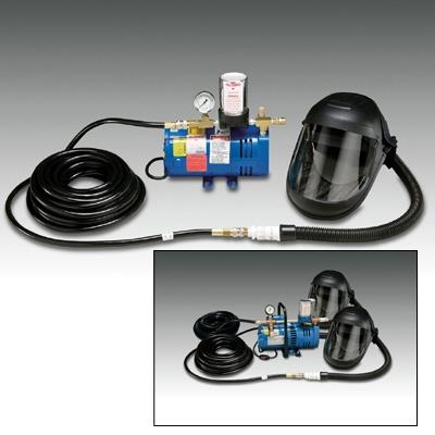 Allegro 9245-02 Supplied Air Shield System with Two Shields, 3/4 hp Pump & 50 ft Breathing Hose, ANSI Z87.1-2003, Two Worker