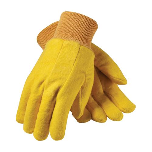 Premium Grade Cotton Chore Glove with Double Layer Palm/Back and Nap-out Finish - Knitwrist