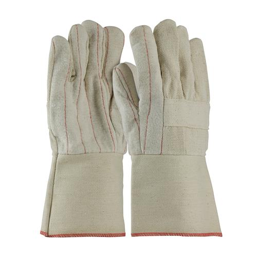 PIP 94-928G  Premium Grade Hot Mill Glove, Three-Layers of Cotton Canvas, Burlap Liner- 28 oz, Gauntlet Cuff - Box/12 Pairs