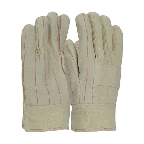 PIP 94-928I Economy Grade Hot Mill Glove, Three-Layers of Cotton Canvas, Burlap Liner- 28 oz, Band Top Cuff - Box/12 Pairs