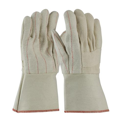 PIP 94-932G Premium Grade Hot Mill Glove, Three-Layers of Cotton Canvas, Burlap Liner- 32 oz, Gauntlet Cuff