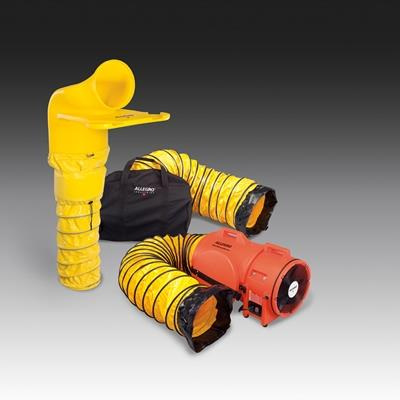 "Allegro 9520-46M  12"" Plastic DC Blower System with MVP, Manhole Ventilation Pass Thru"