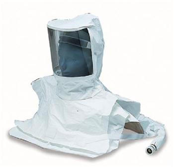 Allegro 9911-10 Double Bib Maintenance Free Supplied Air Tyvek Hood Respirator