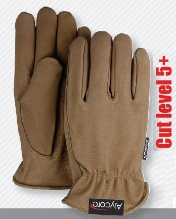 Majestic A2P10P Power Cut Top Grain Pigskin Drivers Gloves with Alycore  - 1 Pair