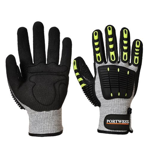 Portwest A722 ANSI Cut Level 4 Glove with TPR, Wrist Closure & Impact Protection, Pair