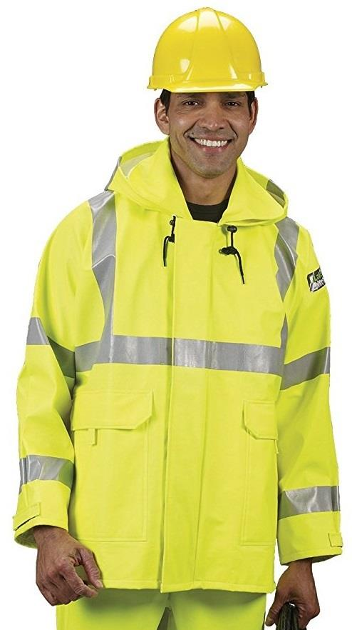 Lakeland AJPU10LY Hi Vis Arc Tech Premium Rain Jacket