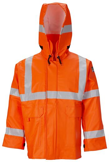 Lakeland AJPU10OR Hi Vis Orange Arc Flash Fire Rain Jacket