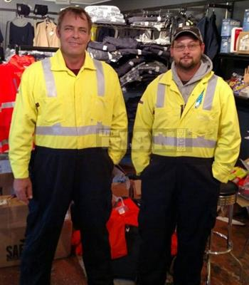 AmeriFire-AR AMFR-HVWPC Arc Rated FR Coverall, Hi Vis Class 2, 70E & 2112 Compliant & Rain Gear in One Garment