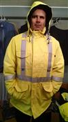 AmeriFire-AR Utility Lineman FR Arc Flash Hi Vis Class 3 Heavy Liner Winter Parka with Tecasafe Shell and Insulated Hood AMFR-HW5091