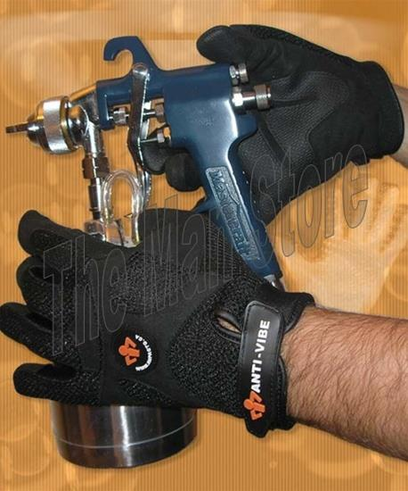IMPACTO BG408 Anti-Vibration Mechanic's Air Glove, Full Finger Synthetic Leather, Patented Air Technology, Meets ANSI / ISO 10819