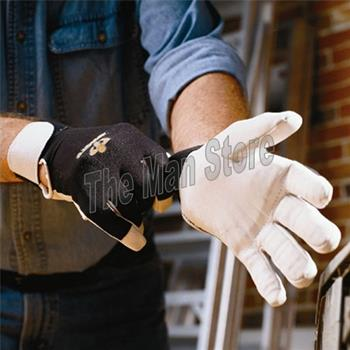 IMPACTO BG473 Anti-Vibration Air Glove w/Wrist Support, Full Finger Pearl Leather, Patented Air Technology, VEP Protection Palm, Fingers/ Thumb- Meets ANSI / ISO 10819