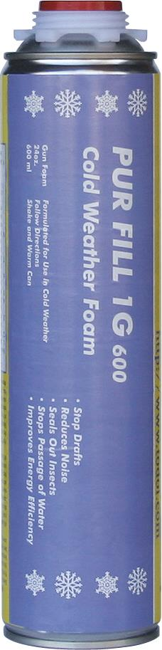 Todol CW01 Pur Fill 1G 600 Cold Weather Gun Foam Formulation 24 oz, 12/case